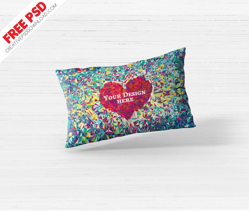 Pillow Cover Free PSD Mockup