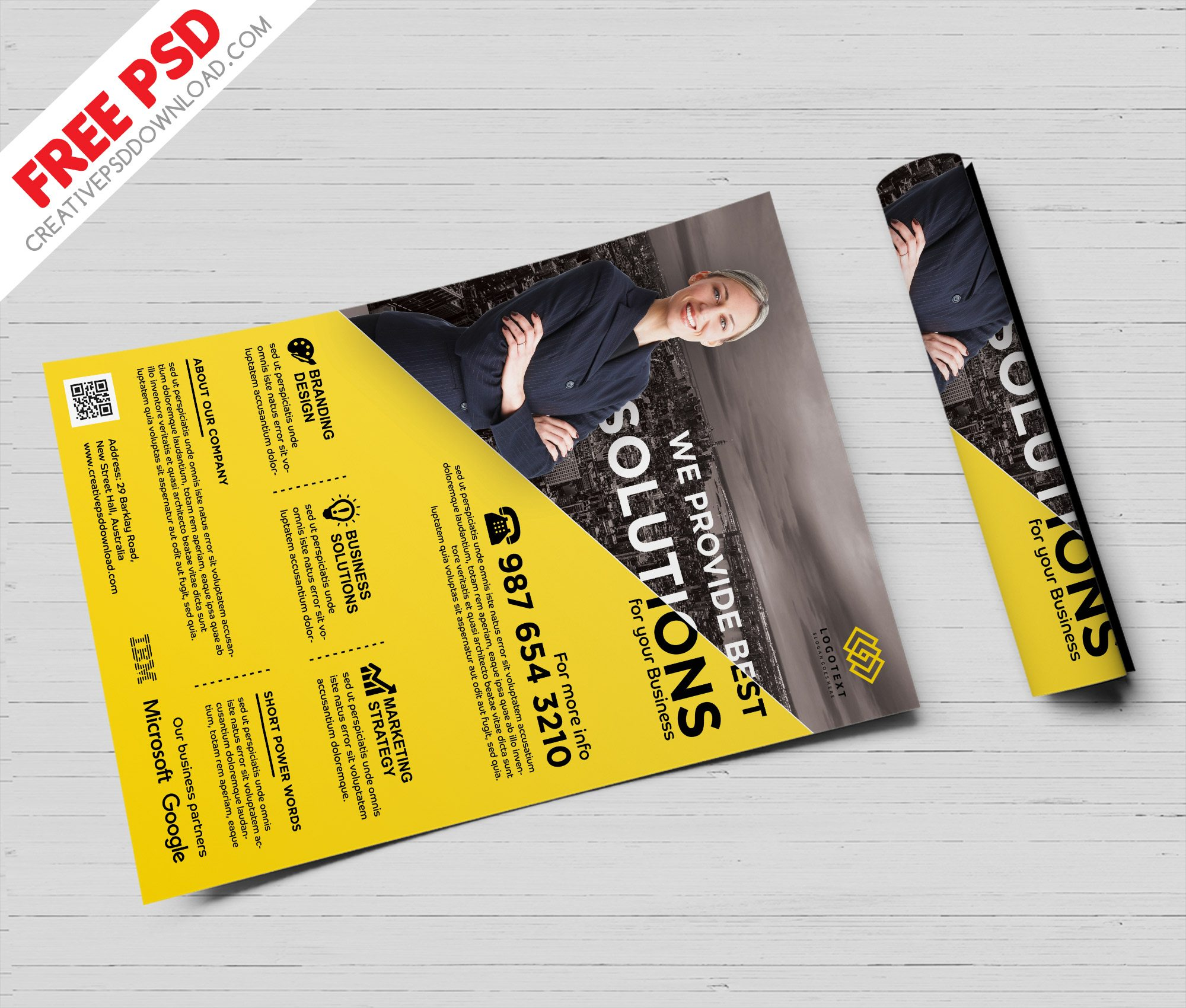 Business Promotions Flyer, Business Solutions Flyer,Business Services Flyer,Business Solutions Flyer Free PSD