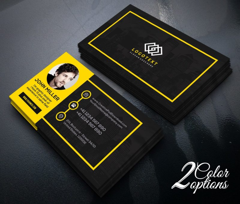 Graphic designer business card free psd reheart