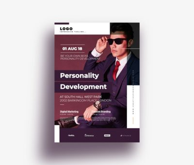 Professional Personality Development Flyer Free PSD