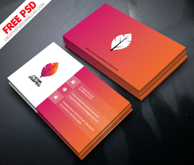 Professional business card psd free download professional business card psd accmission
