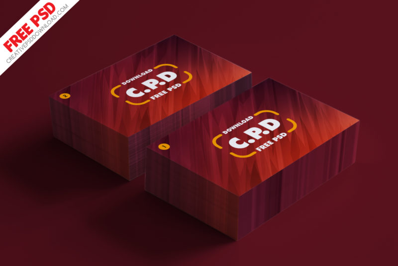 Business Card Mockup Psd - Front & Back View