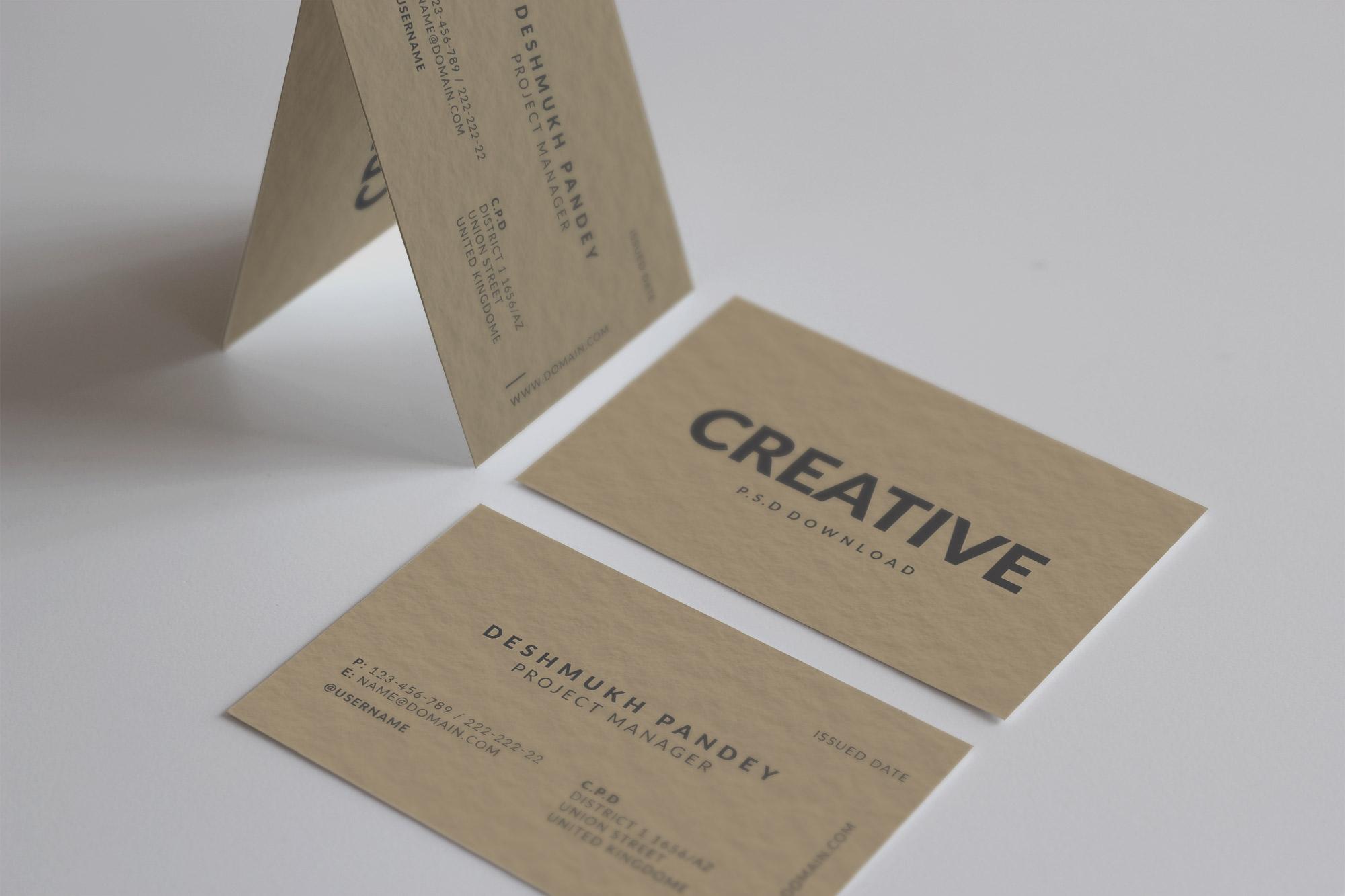 Minimal classic business card design free psd colourmoves