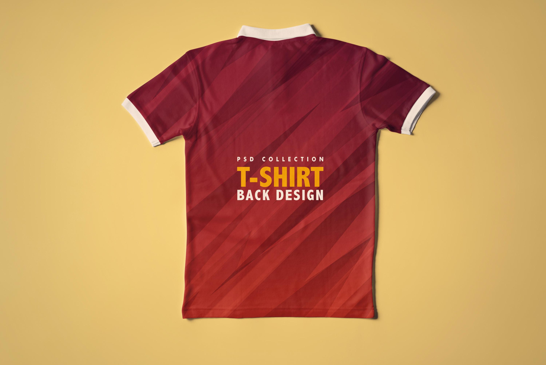 Collar T-Shirt Mockup Collection [3 Psd Mockups], tshirt back view