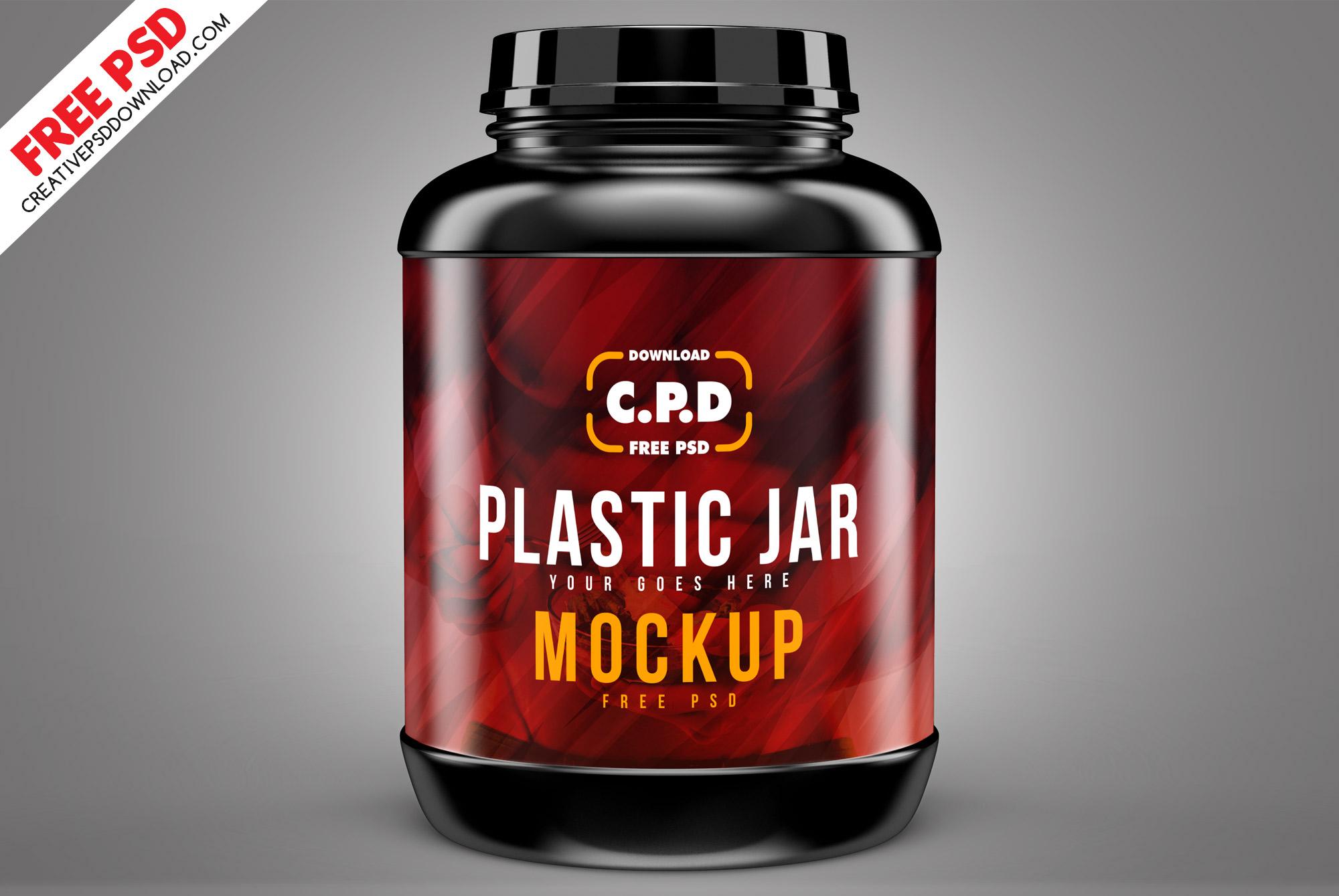 Plastic Jar Mockup Free Psd