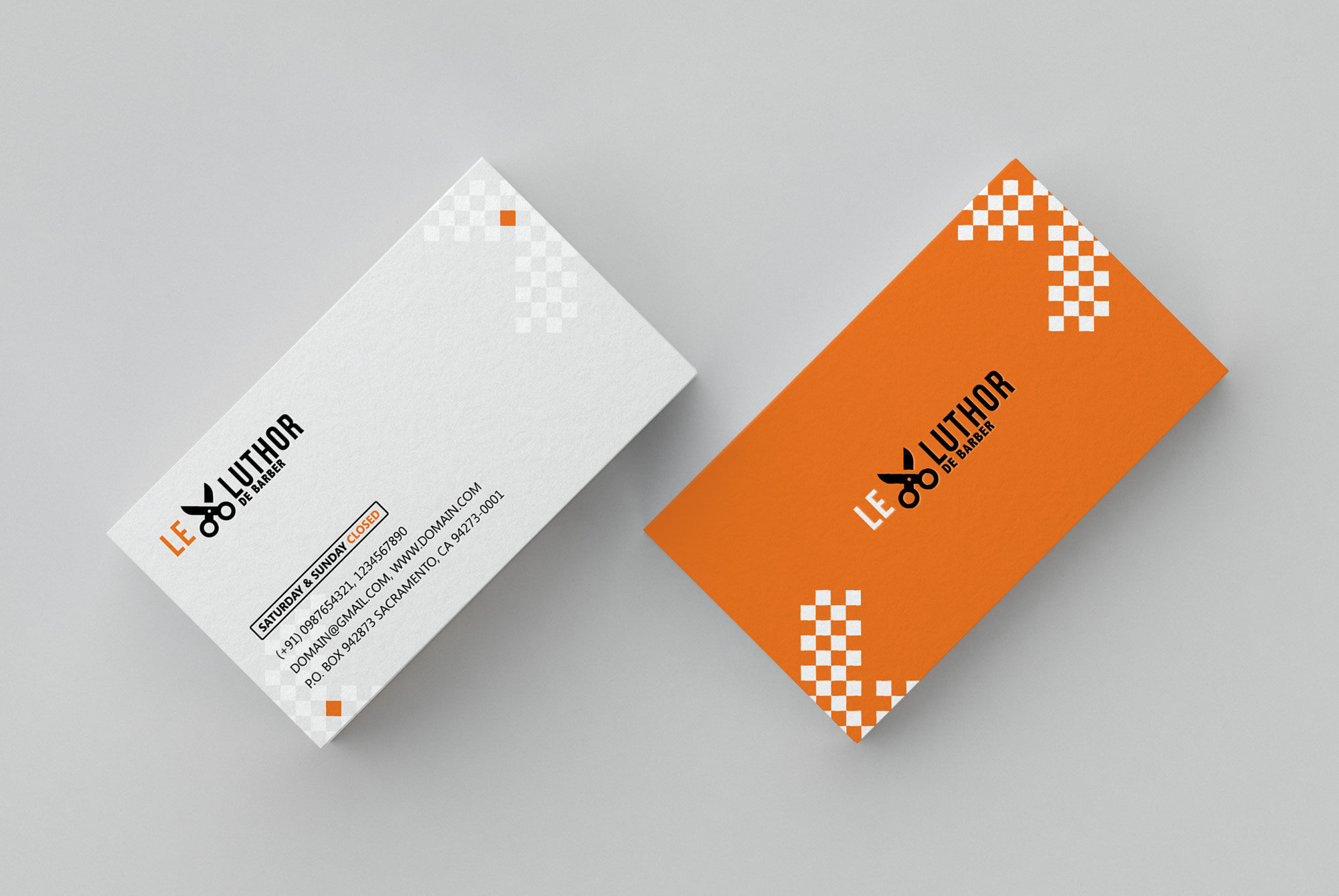 Barber Business Card Psd