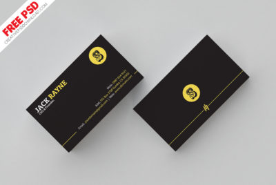 free business card psd, clean business card psd, simple business card template
